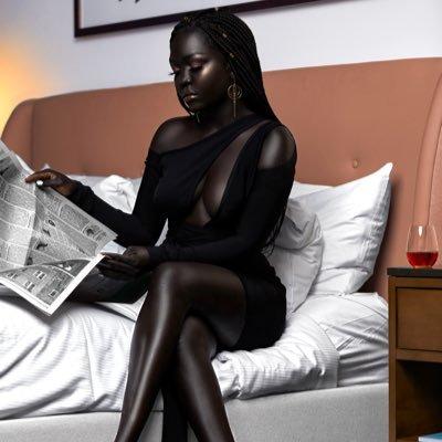 Nyakim Gatewch es considerada por Guinness la persona con piel mas negra del mundo