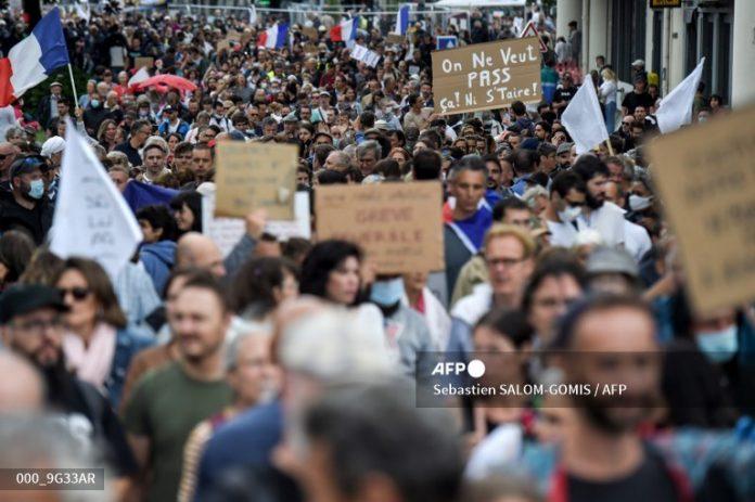 Protestas en Europa y Australia