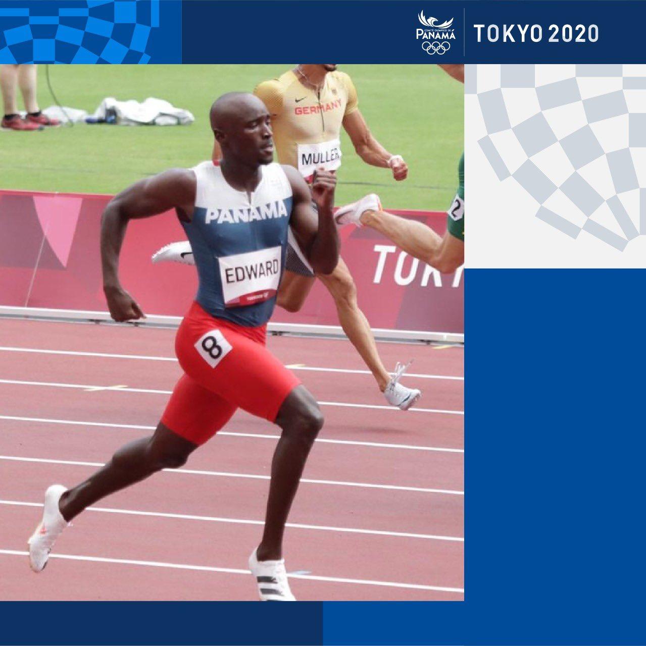 Alonso Edwards compitiendo en los juegos olímpicos celebrados en Tokyo en el 2021