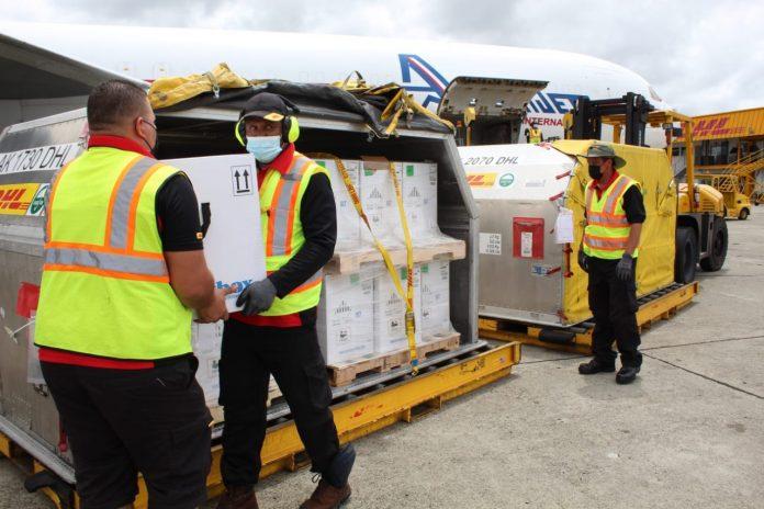 Panamá recibe nuevo lote de Pfizer.