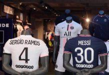 Sergio Ramos da la bienvenida a Messi en París