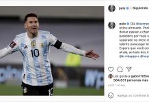 Pelé felicitó a Messi